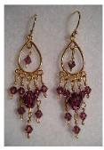 Purple Swarovski Chandelier Earrings